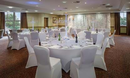 wedding table set up doubletree by hilton the westerwood